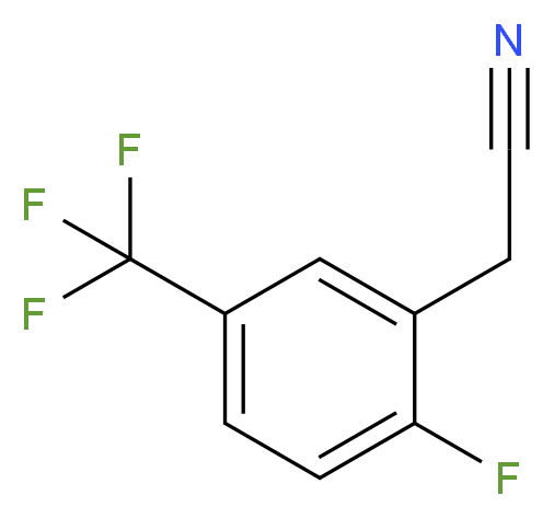 2-[2-fluoro-5-(trifluoromethyl)phenyl]acetonitrile_分子结构_CAS_220227-59-8