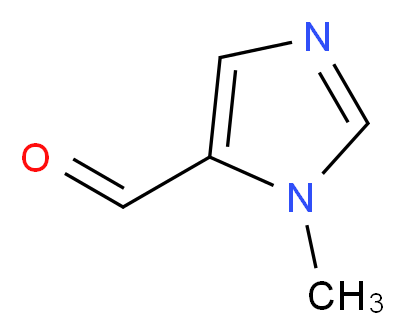1-methyl-1H-imidazole-5-carbaldehyde_分子结构_CAS_39021-62-0