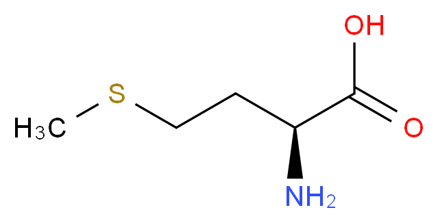 (2S)-2-amino-4-(methylsulfanyl)butanoic acid_分子结构_CAS_63-68-3