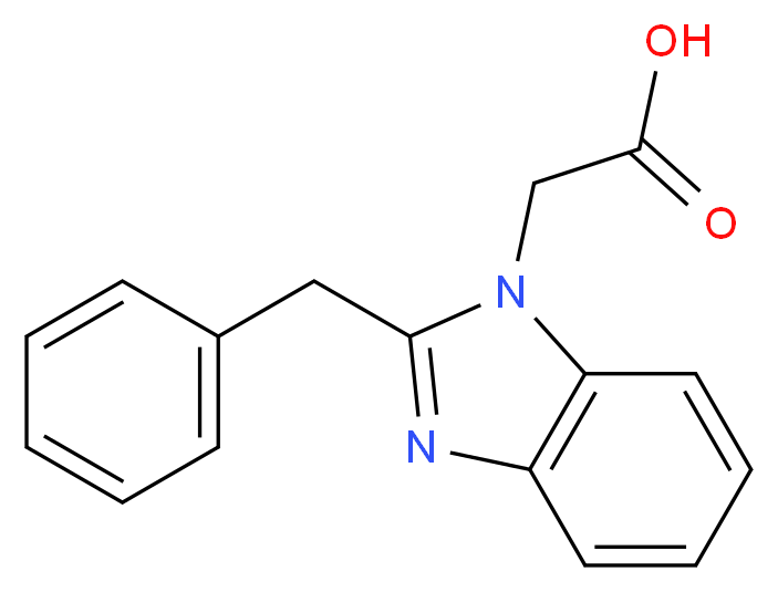 2-(2-benzyl-1H-benzo[d]imidazol-1-yl)acetic acid_分子结构_CAS_)