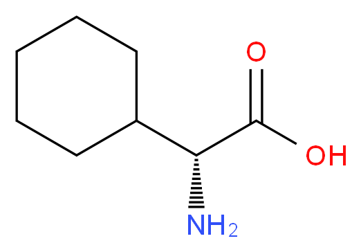 (2R)-2-amino-2-cyclohexylacetic acid_分子结构_CAS_14328-52-0