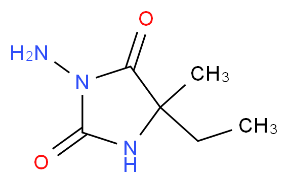 3-Amino-5-ethyl-5-methyl-imidazolidine-2,4-dione_分子结构_CAS_1005-88-5)