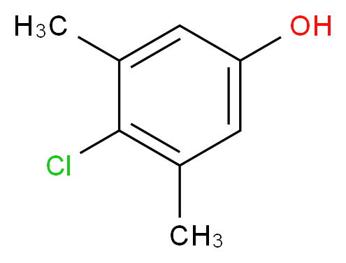 4-chloro-3,5-dimethylphenol_分子结构_CAS_88-04-0