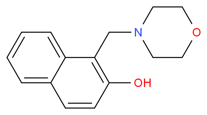 1-(morpholin-4-ylmethyl)naphthalen-2-ol_分子结构_CAS_27438-39-7