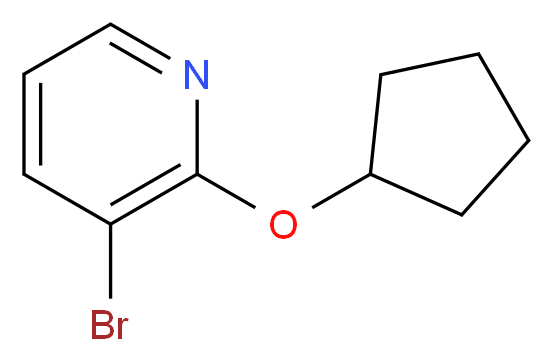 3-bromo-2-(cyclopentyloxy)pyridine_分子结构_CAS_422557-08-2