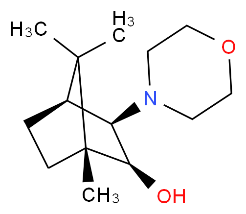 (1R,2S,3R,4S)-1,7,7-trimethyl-3-(morpholin-4-yl)bicyclo[2.2.1]heptan-2-ol_分子结构_CAS_287105-48-0