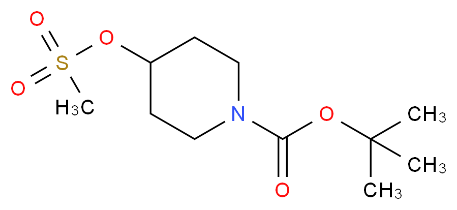 tert-butyl 4-(methanesulfonyloxy)piperidine-1-carboxylate_分子结构_CAS_141699-59-4