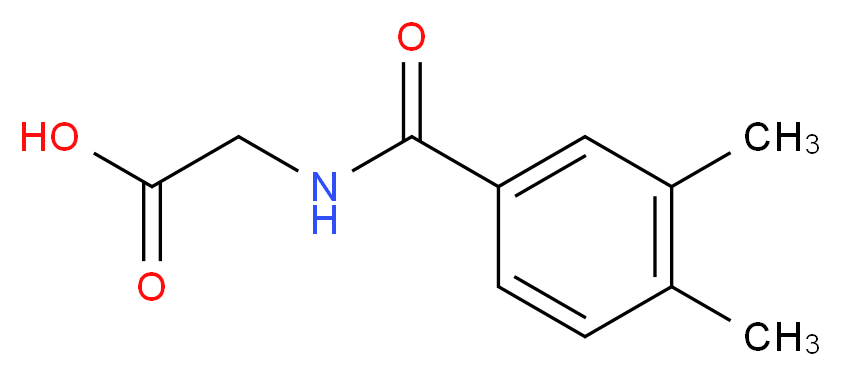 2-[(3,4-dimethylphenyl)formamido]acetic acid_分子结构_CAS_23082-12-4