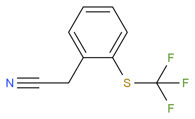 2-{2-[(trifluoromethyl)sulfanyl]phenyl}acetonitrile_分子结构_CAS_237424-20-3