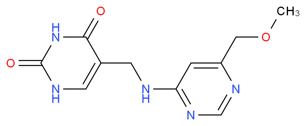 5-({[6-(methoxymethyl)pyrimidin-4-yl]amino}methyl)pyrimidine-2,4(1H,3H)-dione_分子结构_CAS_)