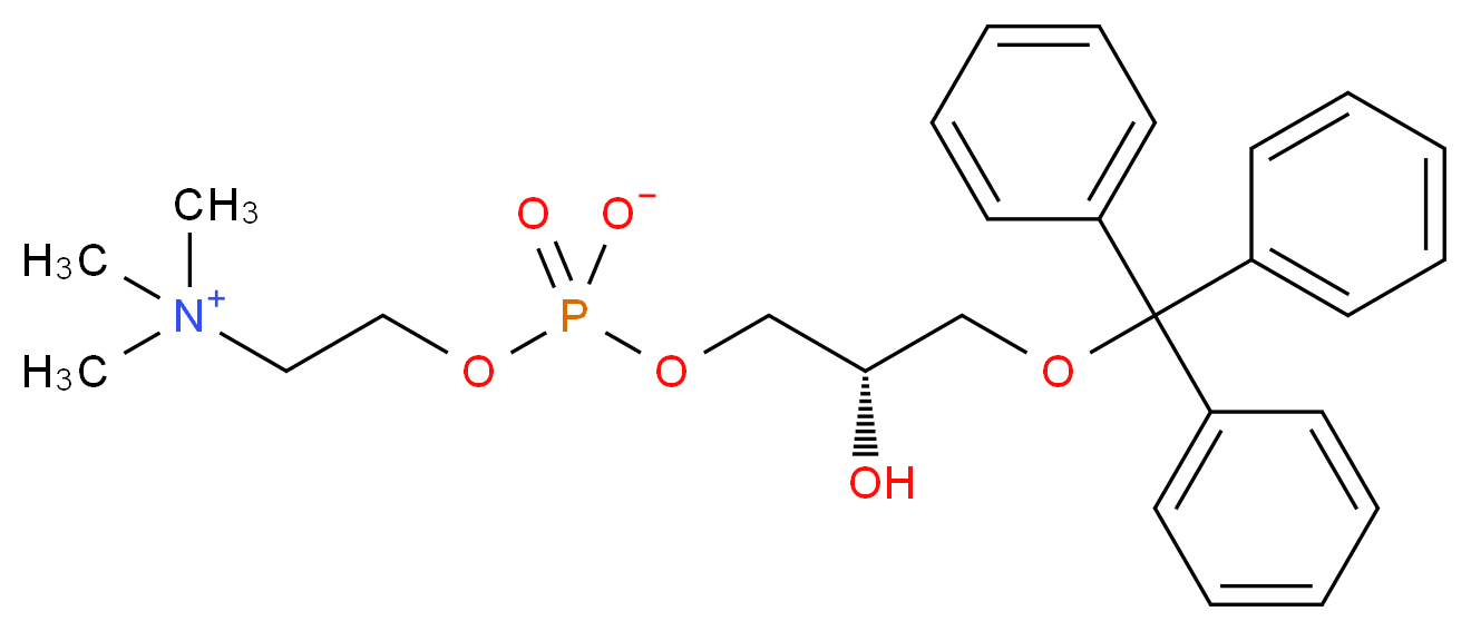 (2-{[(2S)-2-hydroxy-3-(triphenylmethoxy)propyl phosphonato]oxy}ethyl)trimethylazanium_分子结构_CAS_103675-56-5
