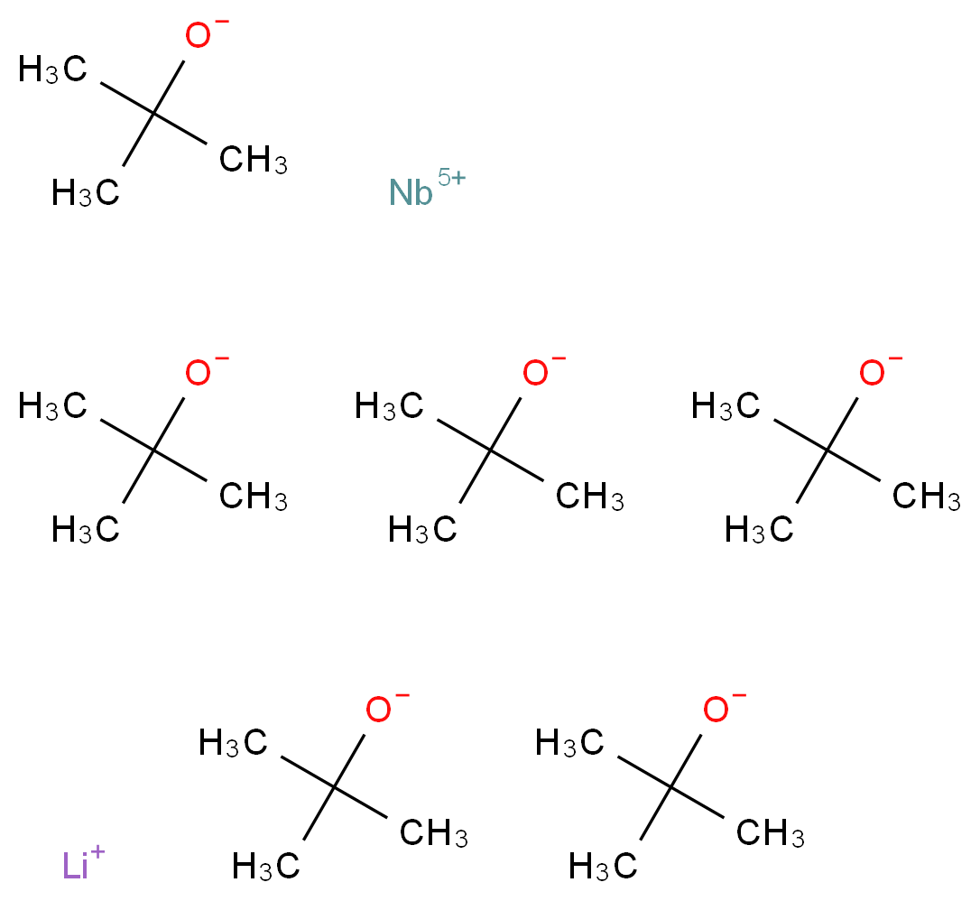 niobium(5+) ion lithium(1+) ion hexakis(2-methylpropan-2-olate)_分子结构_CAS_21864-27-7