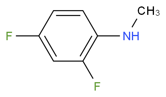 2,4-difluoro-N-methylaniline_分子结构_CAS_138564-16-6