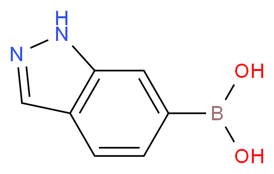 (1H-indazol-6-yl)boronic acid_分子结构_CAS_885068-10-0