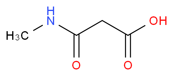 2-(methylcarbamoyl)acetic acid_分子结构_CAS_42105-98-6