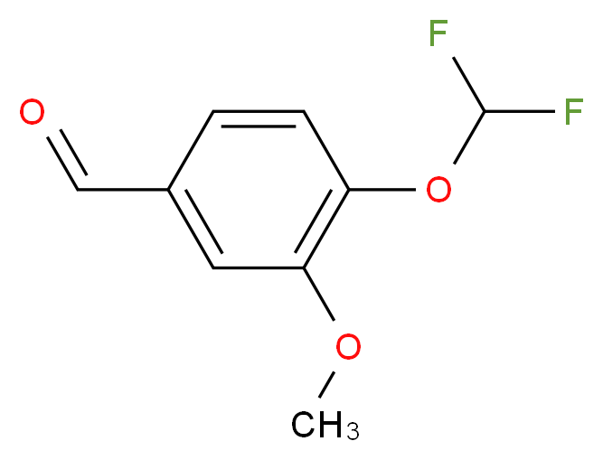 3-Methoxy-4-(difluoromethoxy)benzaldehyde_分子结构_CAS_162401-70-9)