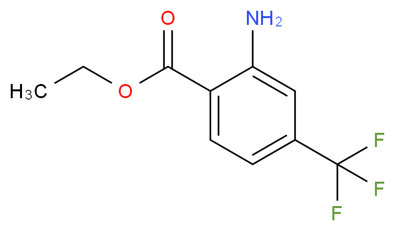 Ethyl 2-amino-4-trifluoromethylbenzoate_分子结构_CAS_65568-55-0)