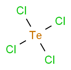 tetrachloro-$l^{4}-tellane_分子结构_CAS_10026-07-0