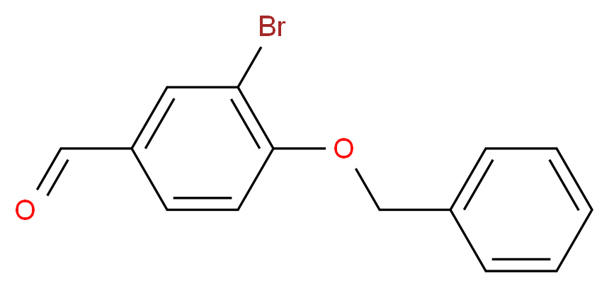 4-(benzyloxy)-3-bromobenzaldehyde_分子结构_CAS_69455-12-5