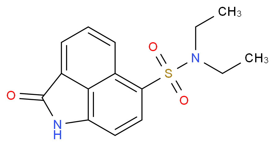 N,N-diethyl-3-oxo-2-azatricyclo[6.3.1.0<sup>4</sup>,<sup>1</sup><sup>2</sup>]dodeca-1(12),4,6,8,10-pentaene-9-sulfonamide_分子结构_CAS_53257-02-6