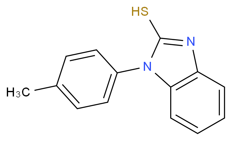 1-(4-methylphenyl)-1H-1,3-benzodiazole-2-thiol_分子结构_CAS_92149-91-2