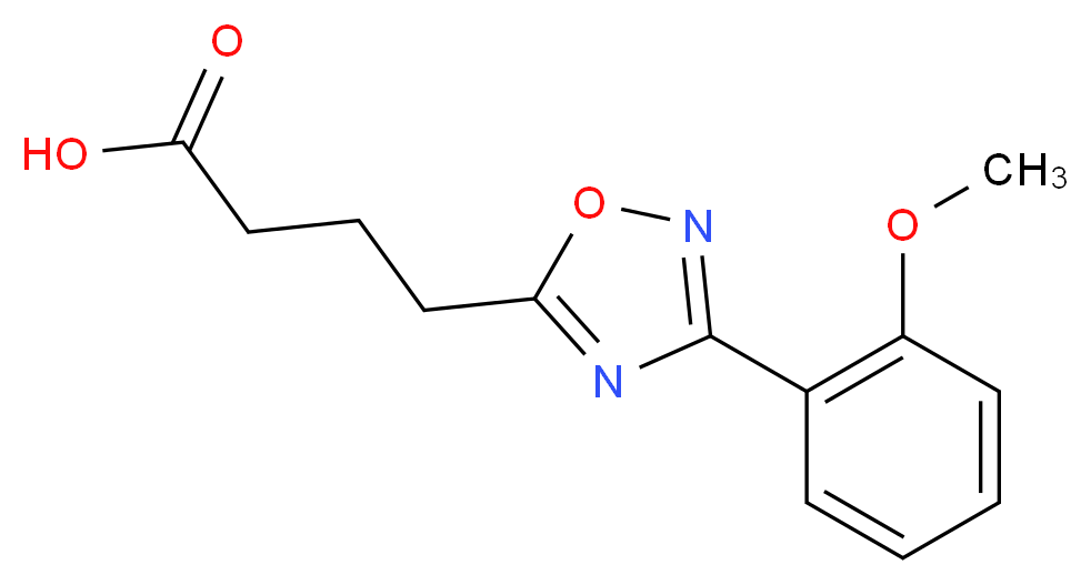 4-[3-(2-methoxyphenyl)-1,2,4-oxadiazol-5-yl]butanoic acid_分子结构_CAS_883546-54-1