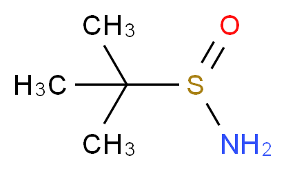 2-methylpropane-2-sulfinamide_分子结构_CAS_343338-28-3