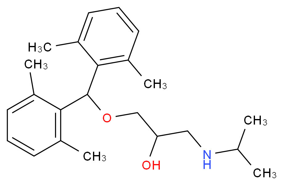 {3-[bis(2,6-dimethylphenyl)methoxy]-2-hydroxypropyl}(propan-2-yl)amine_分子结构_CAS_19179-78-3