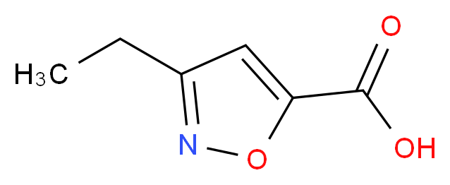 3-ethyl-1,2-oxazole-5-carboxylic acid_分子结构_CAS_14633-21-7
