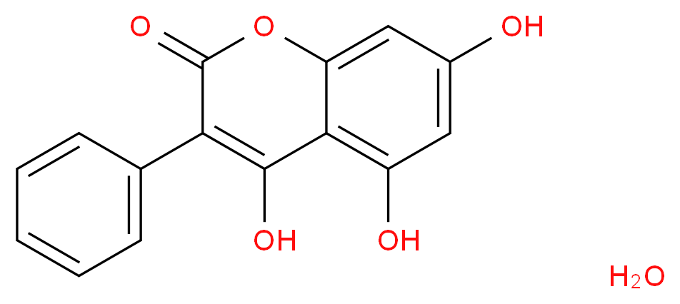4,5,7-trihydroxy-3-phenyl-2H-chromen-2-one hydrate_分子结构_CAS_4222-02-0