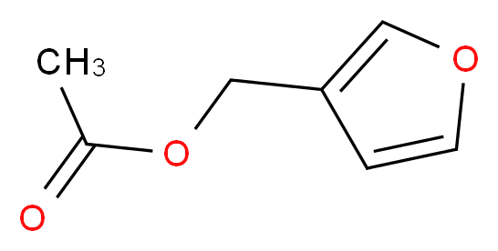 furan-3-ylmethyl acetate_分子结构_CAS_30614-67-6