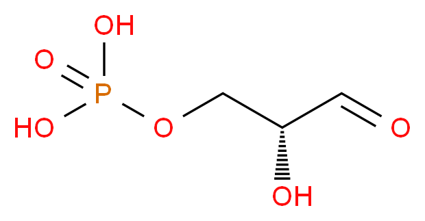 [(2R)-2-hydroxy-3-oxopropoxy]phosphonic acid_分子结构_CAS_591-59-3