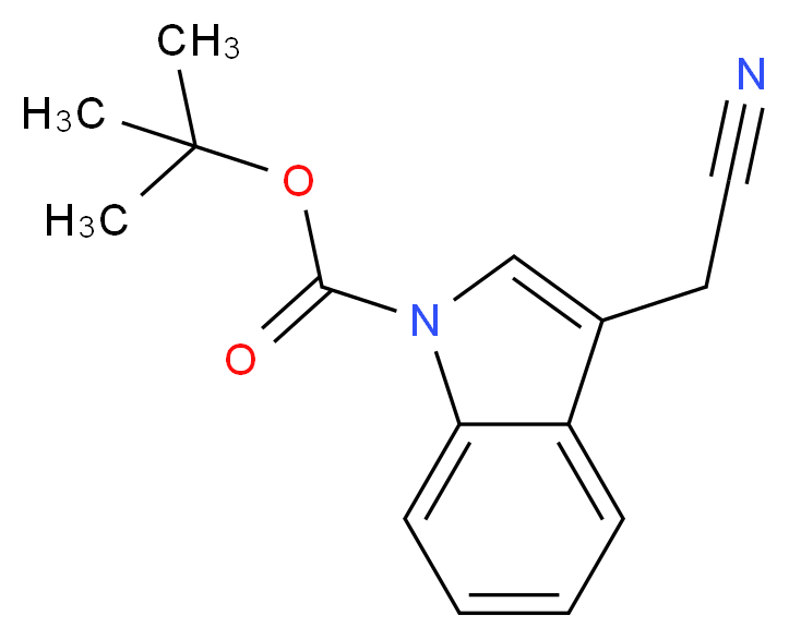 tert-butyl 3-(cyanomethyl)-1H-indole-1-carboxylate_分子结构_CAS_218772-62-4