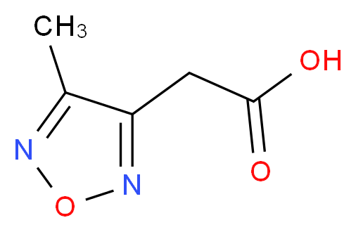 2-(4-methyl-1,2,5-oxadiazol-3-yl)acetic acid_分子结构_CAS_)