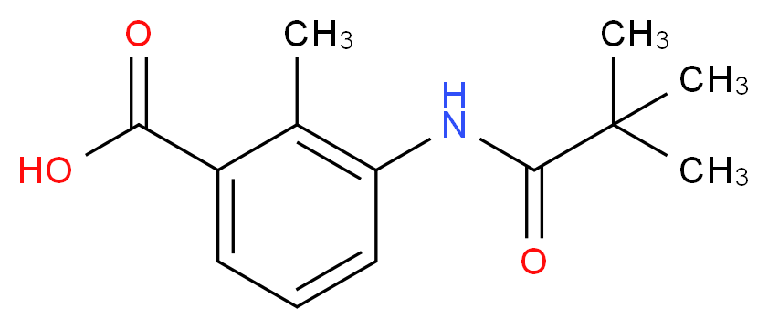 3-(2,2-dimethylpropanamido)-2-methylbenzoic acid_分子结构_CAS_312317-36-5