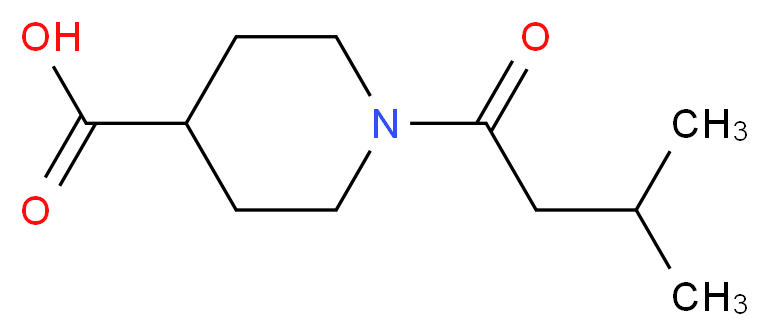 1-(3-methylbutanoyl)piperidine-4-carboxylic acid_分子结构_CAS_926238-85-9