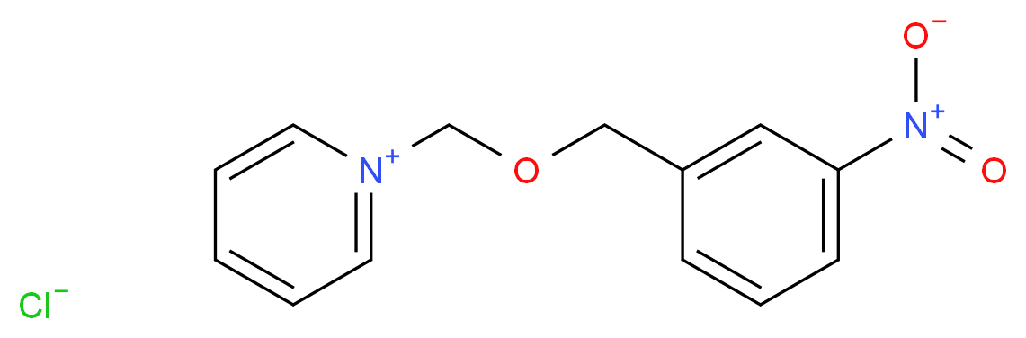 1-{[(3-nitrophenyl)methoxy]methyl}pyridin-1-ium chloride_分子结构_CAS_3009-13-0
