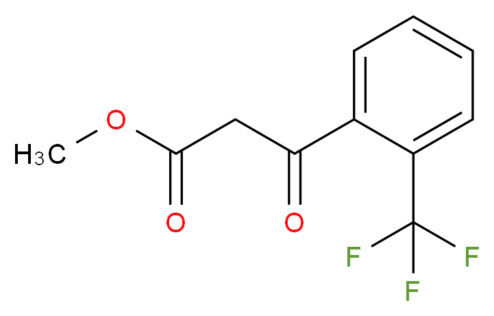 methyl 3-oxo-3-[2-(trifluoromethyl)phenyl]propanoate_分子结构_CAS_212755-77-6