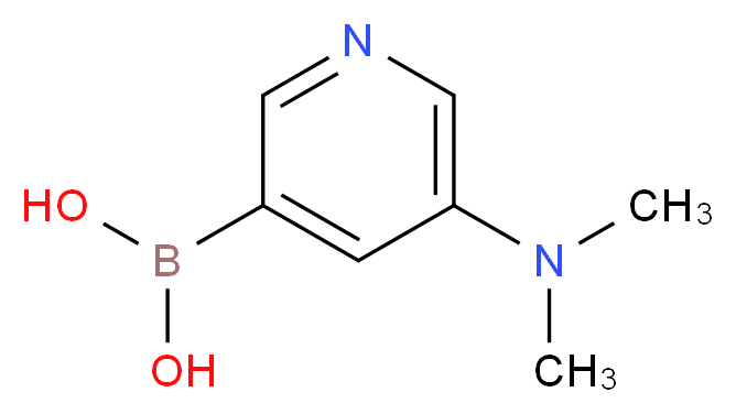 (5-(DiMethylaMino)pyridin-3-yl)boronic acid_分子结构_CAS_1018680-09-5)