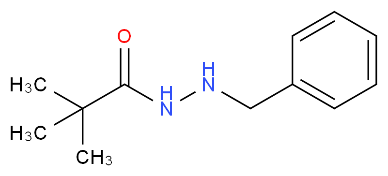 N'-benzyl-2,2-dimethylpropanehydrazide_分子结构_CAS_306-19-4