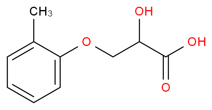 2-hydroxy-3-(2-methylphenoxy)propanoic acid_分子结构_CAS_26114-38-5