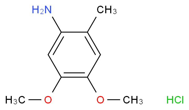 4,5-dimethoxy-2-methylaniline hydrochloride_分子结构_CAS_41864-45-3
