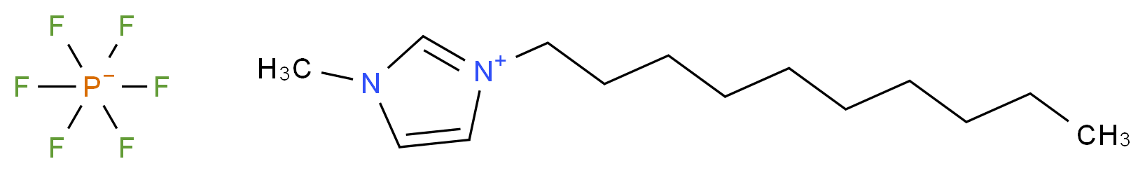 3-decyl-1-methyl-1H-imidazol-3-ium; hexafluoro-λ<sup>5</sup>-phosphanuide_分子结构_CAS_362043-46-7