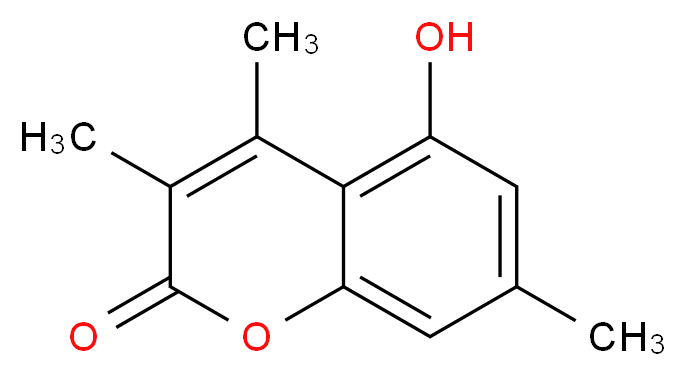 5-hydroxy-3,4,7-trimethyl-2H-chromen-2-one_分子结构_CAS_107057-96-5