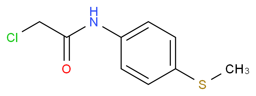 2-chloro-N-[4-(methylsulfanyl)phenyl]acetamide_分子结构_CAS_27978-30-9