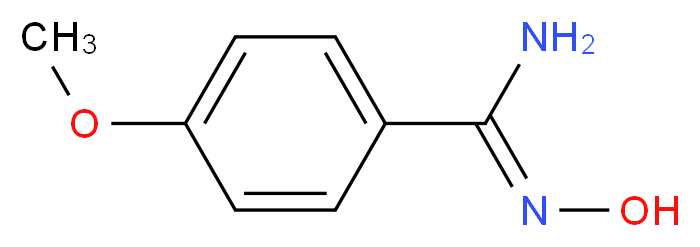 (Z)-N'-hydroxy-4-methoxybenzene-1-carboximidamide_分子结构_CAS_5373-87-5