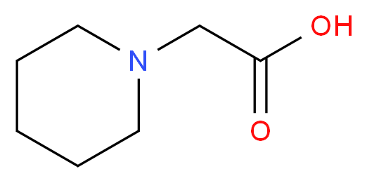 2-(Piperidin-1-yl)acetic acid_分子结构_CAS_478920-86-4)