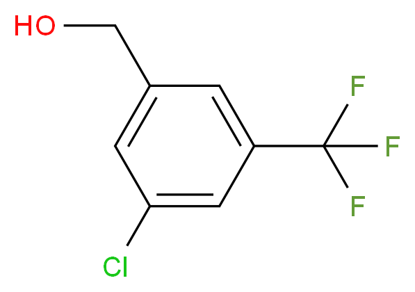(3-Chloro-5-(trifluoromethyl)phenyl)methanol_分子结构_CAS_886496-87-3)