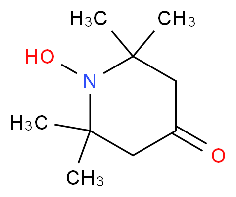 1-hydroxy-2,2,6,6-tetramethylpiperidin-4-one_分子结构_CAS_2896-70-0
