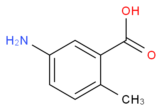5-amino-2-methylbenzoic acid_分子结构_CAS_2840-04-2